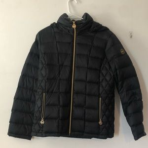 Women's Black Michael Kors Packable Puffer Coat
